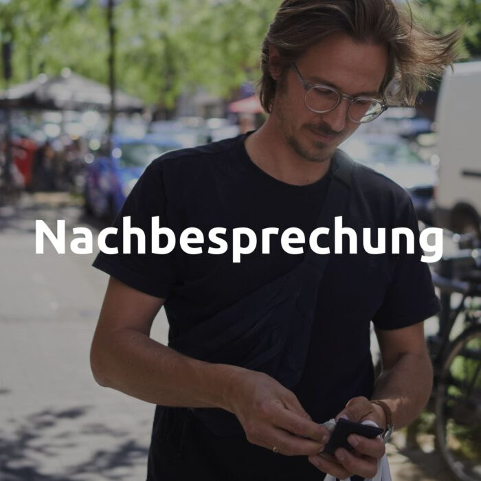 Nachbesprechung des Interviews von Philipp Jacob-Pahl